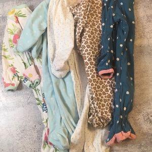 Other - Newborn Girl Pajama Sleeper Bundle